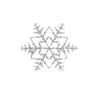 """18"""" LED Lighted Snowflake Christmas Window Silhouette Decoration"""