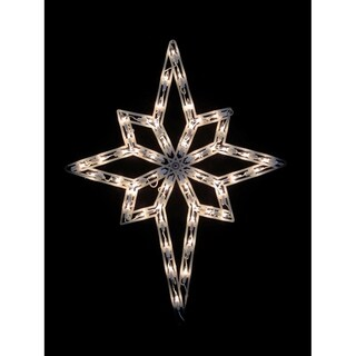 "18"" Lighted Star of Bethlehem Christmas Window Silhouette Decoration"
