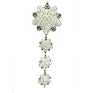 Dangling Silver Snowflakes Christmas Ornament #W5265