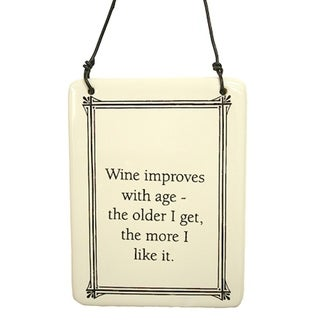 "Funny ""Wine Improves With Age"" Christmas Ornament 6"""