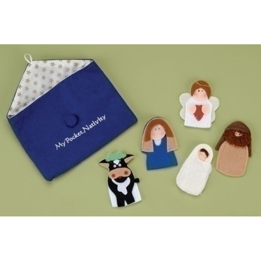 Roman 5-Piece My Pocket Nativity Religous Christmas Finge...