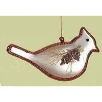 "5.5"" In the Birches Hand Blown Glass Cardinal Bird Christmas Ornament"