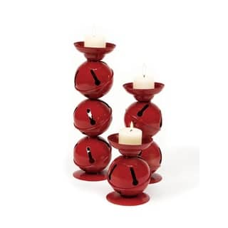 Set of 3 Christmas Traditions Red Jingle Bell Candle Holders|https://ak1.ostkcdn.com/images/products/17957311/P24134499.jpg?impolicy=medium