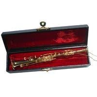 "6"" Seasons of Elegance Brass Clarinet Musical Instrument Christmas Ornament"