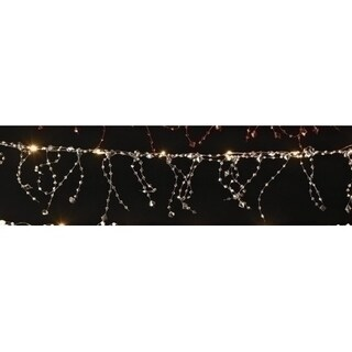 6' Battery Operated Warm White Lighted Faceted Bead Christmas Garland