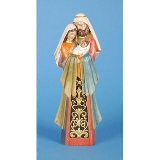 "11.5"" Inspirational Embossed Holy Family Christmas Nativity Figure"