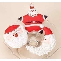 Sweet Memories Frosted Santa Claus Star Cookie Christmas Ornament