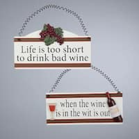 """Tuscan Winery """"When the Wine is in the Wit is Out"""" Christmas Ornament Plaque"""