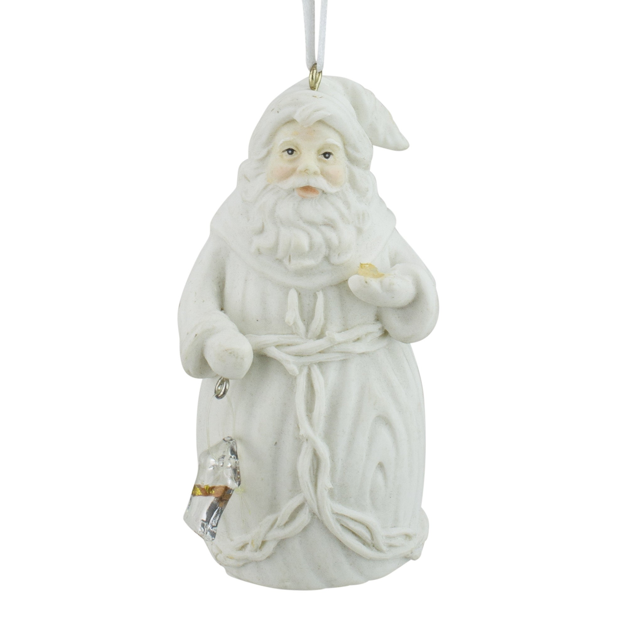 Roman Winter's Beauty White Santa Claus Holding Birds Chr...