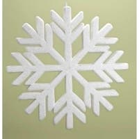 "18.75"" Snowy Winter Flocked Commercial Sized Geometric Snowflake Christmas Ornament"