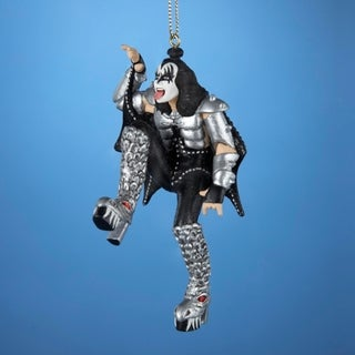 "4.5"" KISS Demon Gene Simmons Posing Christmas Ornament"