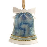"3"" Crystal Elegance Winter Scene Bell-Shaped Christmas Ornament"