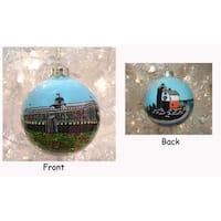 San Francisco Golden Gate Bridge & Lighthouse Christmas Ball Ornament #92165