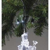 Pack of 12 LED Lighted Ornament Pigtail Holders - Light-Up Your Ornaments