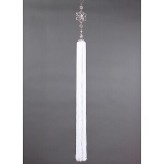 """42"""" Snow Drift Exquisite Crystal Snowflakes with Tassel Christmas Ornament"""