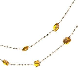 6' Regal Gold Jewel and Beaded Christmas Garland