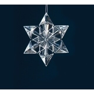 """4.5"""" Icy Crystal Clear Snowflake Christmas Ornament"""