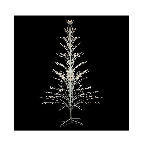 6 X27 White Lighted Christmas Cascade Twig Tree Outdoor Yard Art Decoration Clear