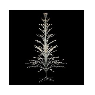 6' White Lighted Christmas Cascade Twig Tree Outdoor Yard Art Decoration - Clear Lights
