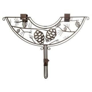 "24"" Brown Pinecone Design Adjustable Decorative Christmas Wreath Hanger"