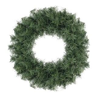 "12"" Mini Canadian Pine Artificial Christmas Wreath - Unlit"