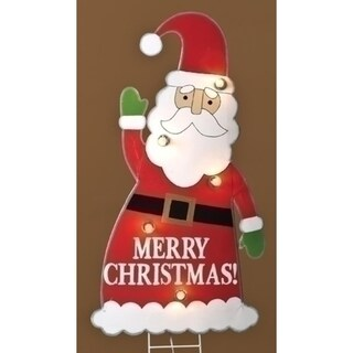 "3' Lighted Santa Claus ""Merry Christmas"" Yard Art Decoration"