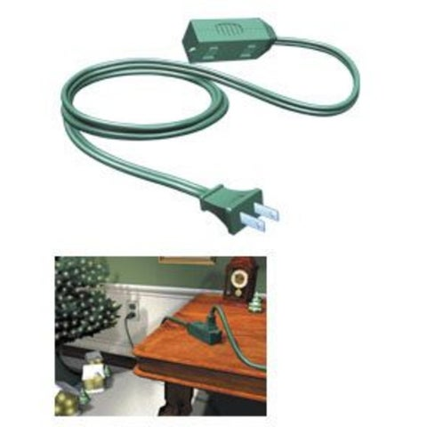 Westinghouse Green 3-Outlet Indoor Extension Power Cord - 9'