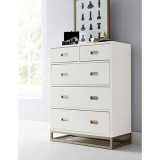 Hillsdale Tinley Park 5 Drawer Chest, Soft White