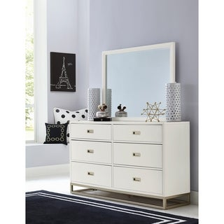 Hillsdale Tinley Park Dresser & Mirror, Soft White