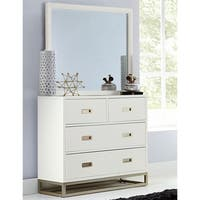 Hillsdale Tinley Park 4 Drawer Chest & Mirror, Soft White