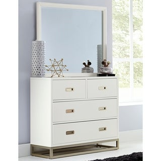Hillsdale Tinley Park 4 Drawer Chest & Mirror, Soft White