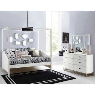 Hillsdale Tinley Park Twin Canopy Daybed, Soft White
