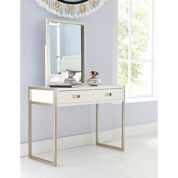 Hillsdale Tinley Park Desk & Vanity Mirror, Soft White