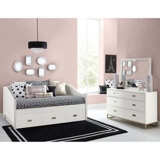 Hilsldale Tinley Park Full Daybed With Trundle, Soft White
