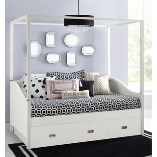Hillsdale Tinley Park Twin Canopy Daybed With Trundle, Soft White