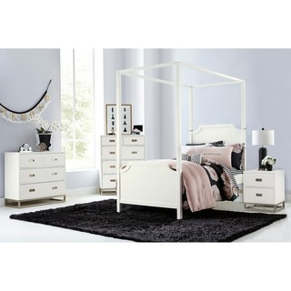 Hillsdale Tinley Park Twin Canopy Panel Bed, Soft White