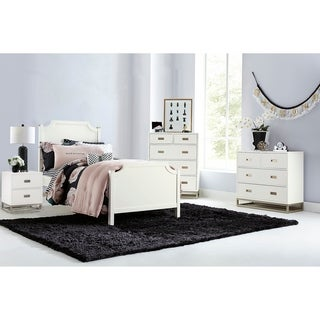 Hillsdale Tinley Park Twin Panel Bed, Soft White