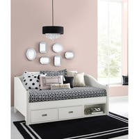 Hillsdale Tinley Park Full Daybed With Storage, Soft White