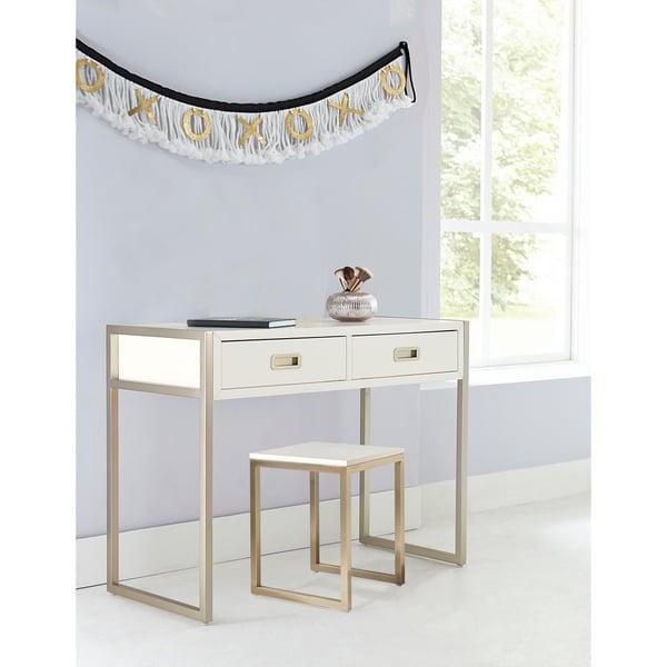 Hillsdale Tinely Park Desk & Stool, Soft White
