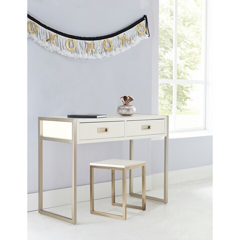 Hillsdale Tinely Park Desk & Stool, Soft White