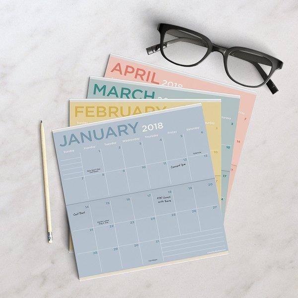 "1 2018-2019 Pocket 2 Year Calendar  /""Pink Ribbon ** FREE SHIPPING**"