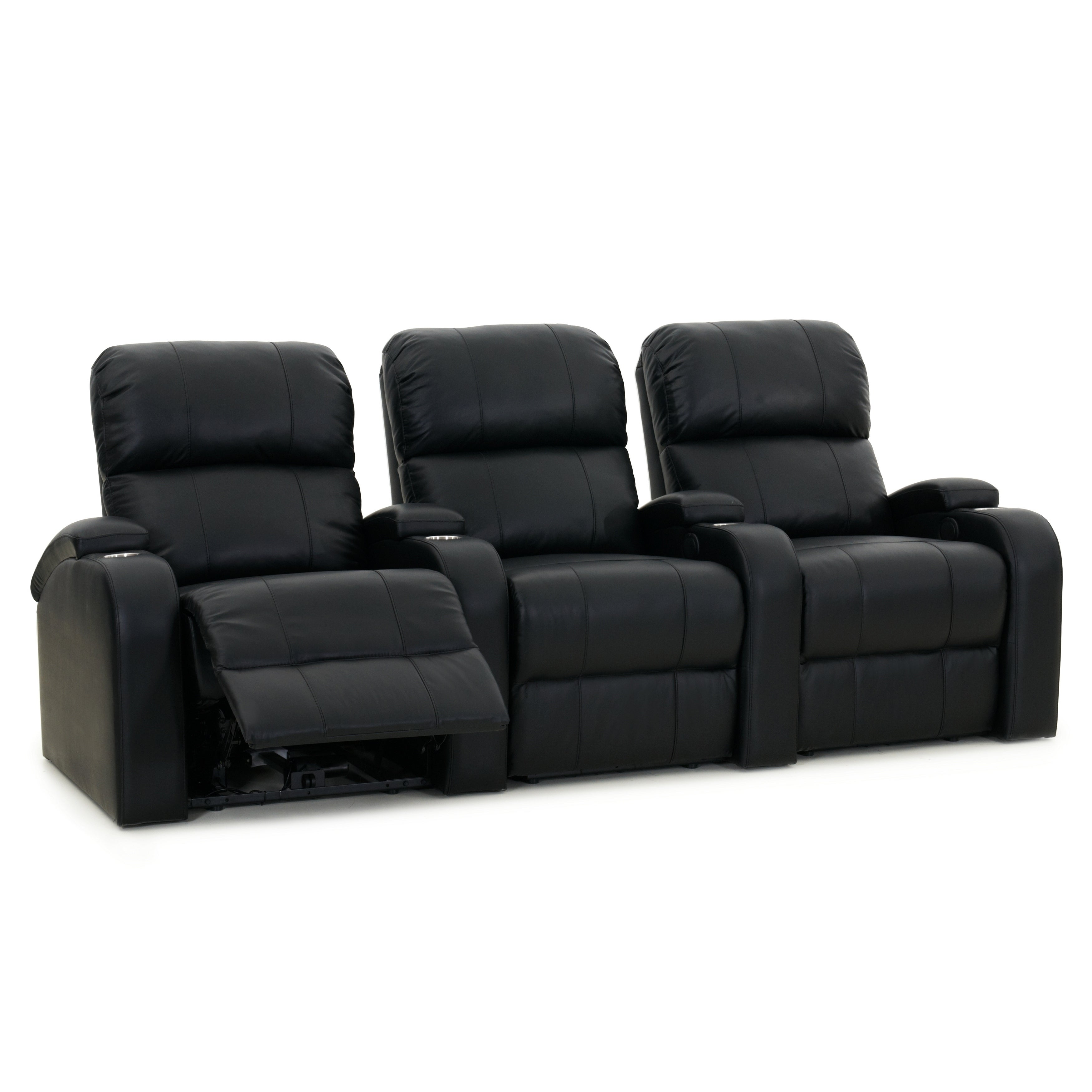 Octane Edge XL800 Manual Leather Home Theater Seating Set...