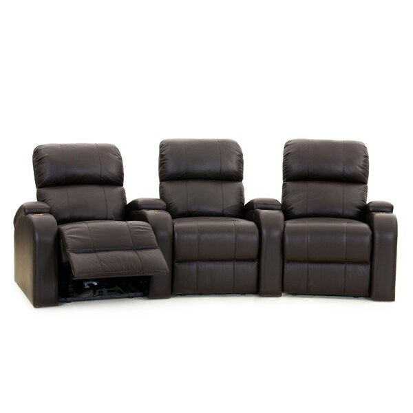 Octane Edge XL800 Power Leather Home Theater Seating Set (Row of 3)