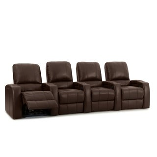 Octane Storm XL850 Power Leather Home Theater Seating Set (Row of 4)