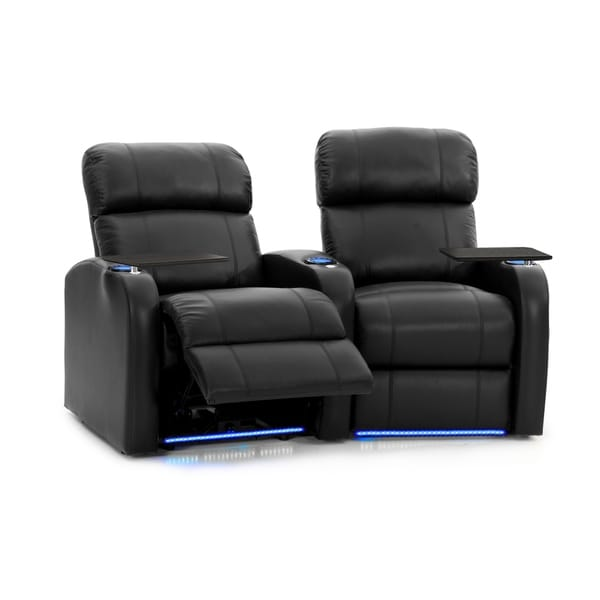 Octane Diesel XS950 Power Leather Home Theater Seating Set (Row of 2)