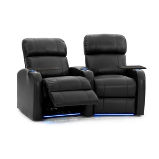 Octane Diesel XS950 Black Leather Power Home Theater Seating Set (Row of 2)