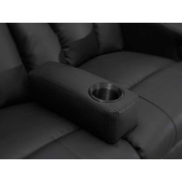 Octane Black Leather Removable Armrest