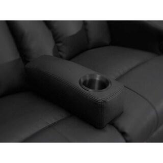 Octane Black Leather/Stainless Steel Removable Armrest
