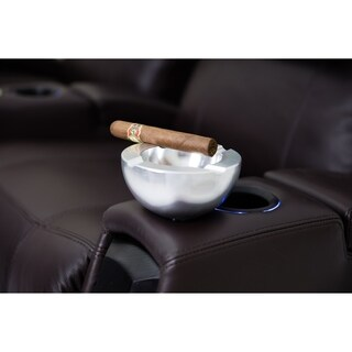 Octane Seating Aluminum Brushed Billet Finish Cigar Holder
