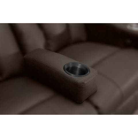 Octane Brown Leather Removable Armrest